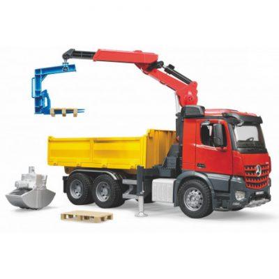 Camión MB Arocs construcción con accesorios escala 1:16