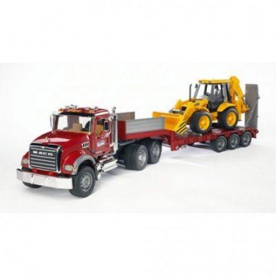 Camión Mack y tractor Caterpillar de juguete 1:16