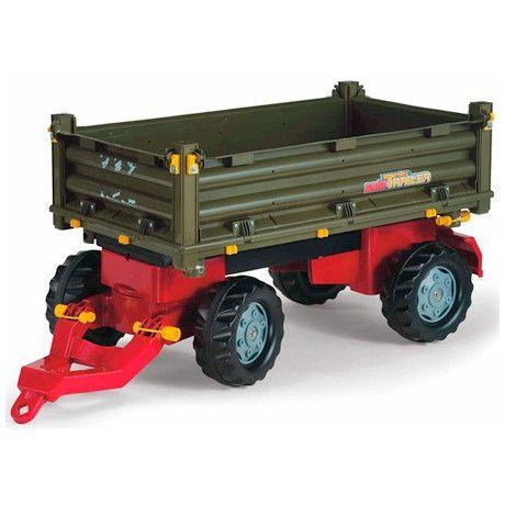 Remolque de 2 ejes de juguete RollyToys