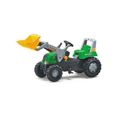 Tractor con pala a pedales de juguete Rolly Junior RT Verde RollyToys