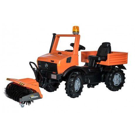 Barredora a pedales de juguete RollyUnimog de servicio