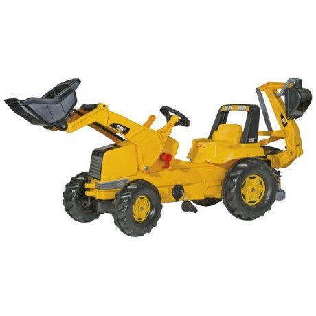 Retroexcavadora con pala a pedales de juguete Caterpillar RollyToys