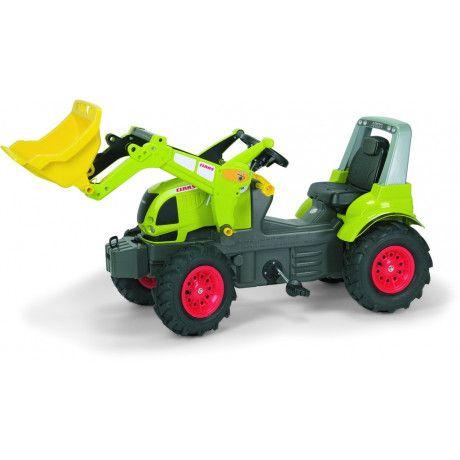 Tractor con pala a pedales de juguete Claas Arion 640 con ruedas neumaticas