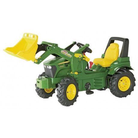 Tractor a pedales con pala de juguete John Deere 7930 Ruedas neumáticas y diferentes marchas