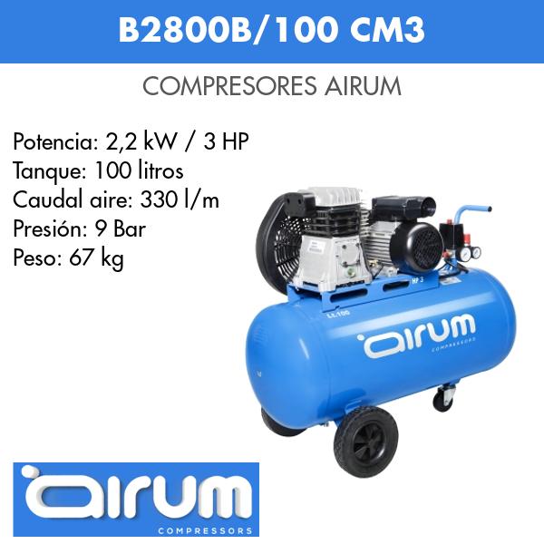 Compresor de aire Airum B2800B-100 cm3