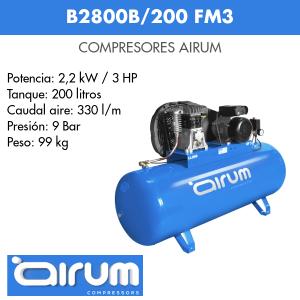 Compresor de aire Airum B2800B-200 FM3