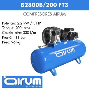 Compresor de aire Airum B2800B-200 FT3