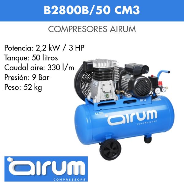 Compresor de aire Airum B2800B-50 cm3