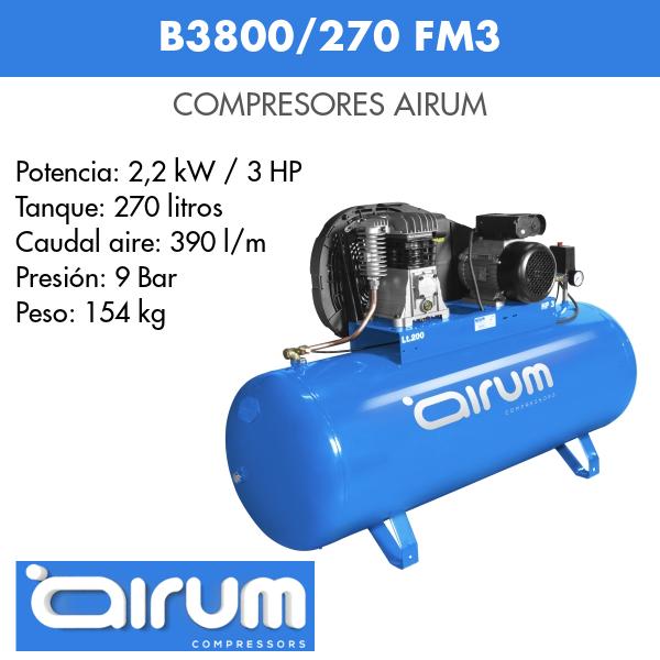 Compresor de aire Airum B3800B-270 FM3