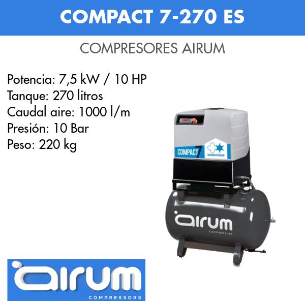 Compresor de aire Airum Compact 7-270 ES