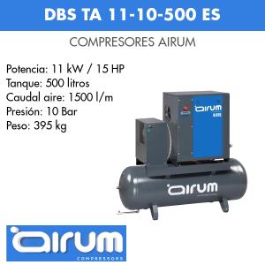 Compresor de aire Airum DBS TA 11-10-500 ES
