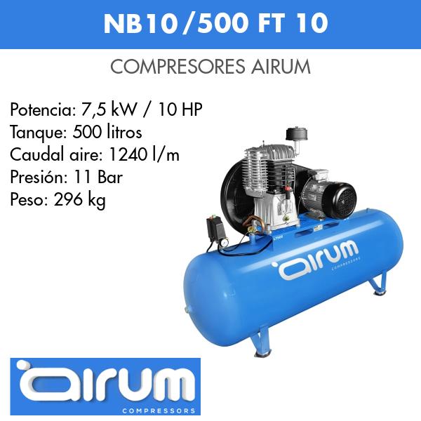 Compresor de aire Airum NB10-500 FT 10