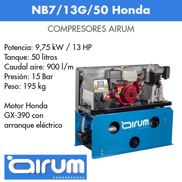 Compresor de aire Airum NB7-13G-50 Honda