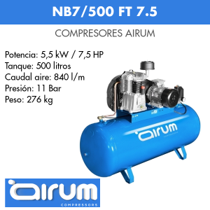 Compresor de aire Airum NB7-500 FT 7.5