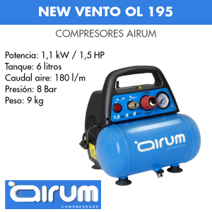 Compresor de aire Airum New vento ol 195