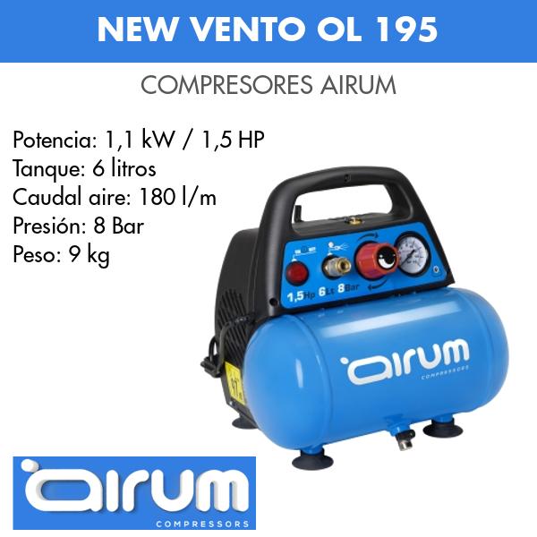 Compresor de aire Airum New vento ol 195