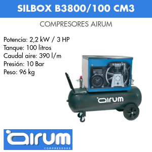 Compresor de aire Airum Silbox B3800-100 CM3