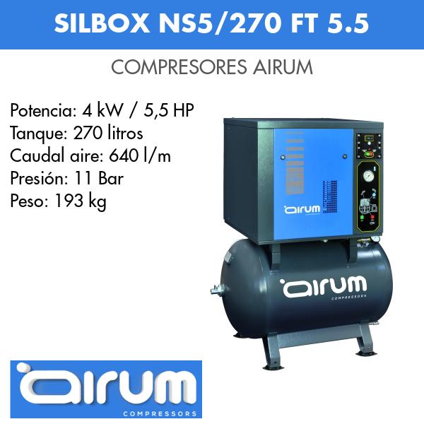 Compresor de aire Airum SILBOX NSS/270 FT 5.5 Airum Insonorizado
