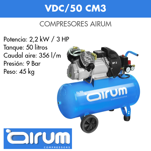 Compresor de aire Airum VDC-50 cm3