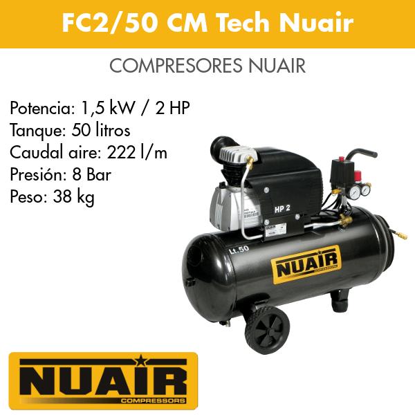 Compresor de aire Nuair FC2-50 CM Tech Nuair