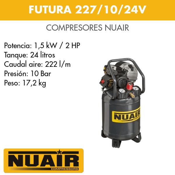 Compresor de aire Nuair Futura 227-10-24V