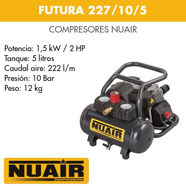 Compresor de aire Nuair Futura 227_10_5