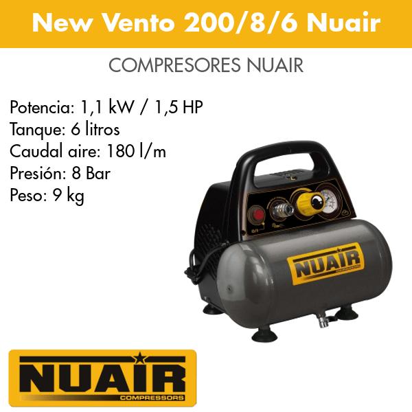 Compresor de aire Nuair New Vento 200-8-6