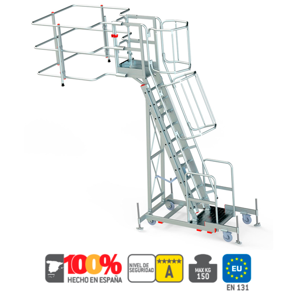 Escalera de aluminio con cabestrante Faraone COD-95B