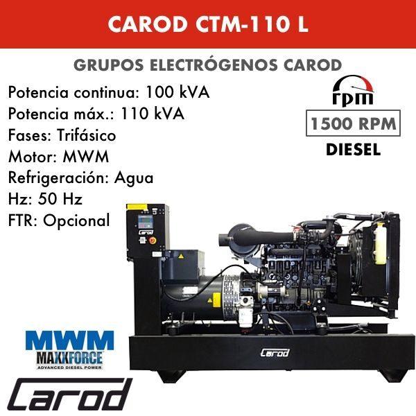 Grupo electrógeno Carod CTM-110 L Trifasico