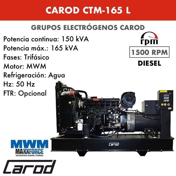 Grupo electrógeno Carod CTM-165 L Trifasico