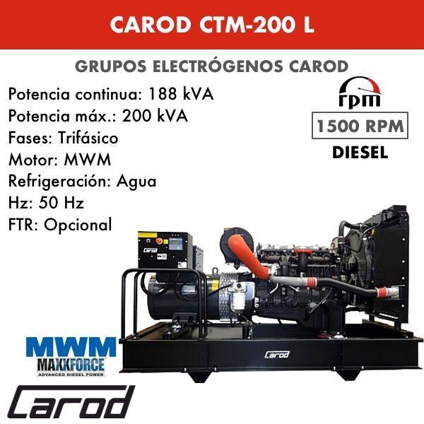 Grupo electrógeno Carod CTM-200 L Trifasico