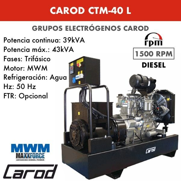 Grupo electrógeno Carod CTM-40 L Trifasico