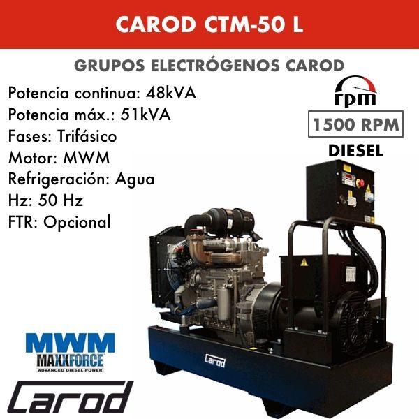 Grupo electrógeno Carod CTM-50 L Trifasico