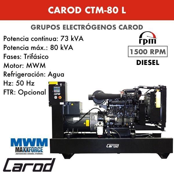 Grupo electrógeno Carod CTM-80 L Trifasico