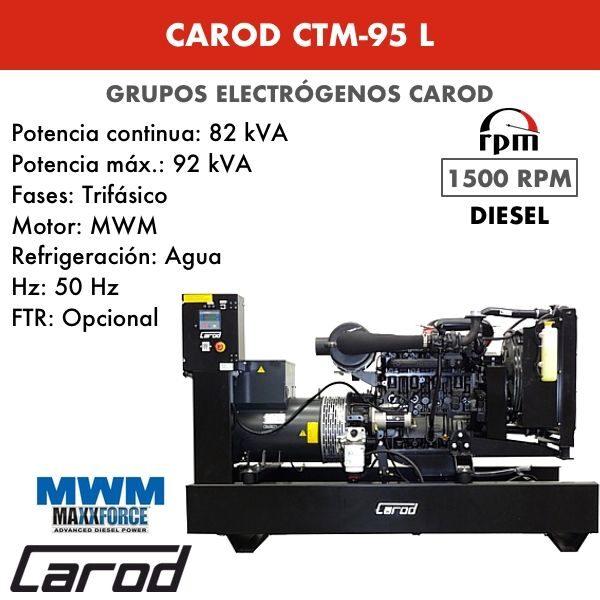 Grupo electrógeno Carod CTM-95 L Trifasico