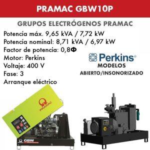 Grupo electrógeno Pramac GBW10P
