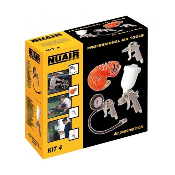 Kit de 4 Pistolas para compresores de aire Nuair