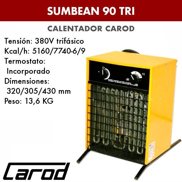 Calefactor Carod Sumbean 90 TRI