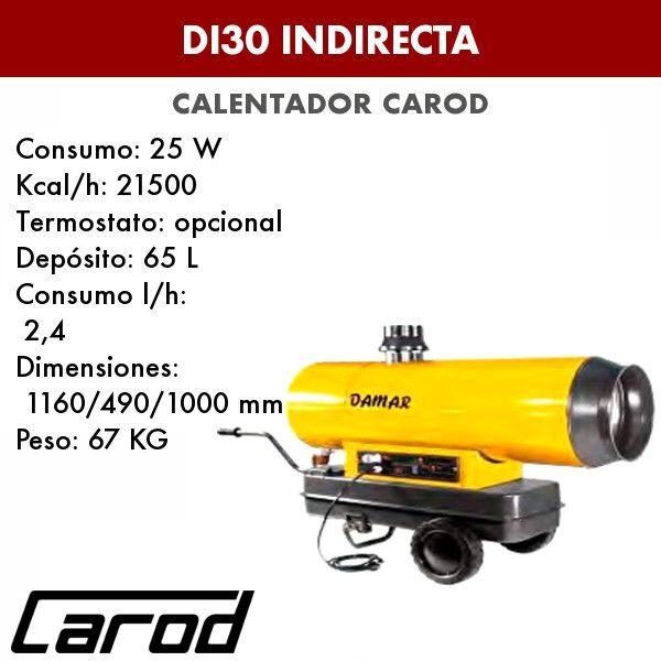 Calentador Carod DI30 indirecta