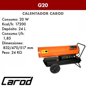 Calentador Carod G20