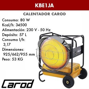Calentador Carod KBE1JA