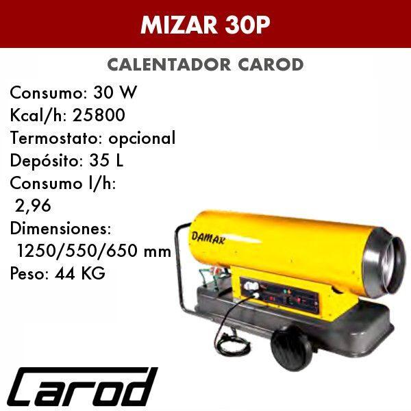 Calentador Carod Mizar 30P