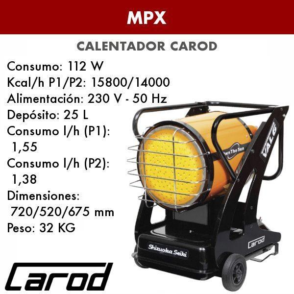 Calentador Carod MPX