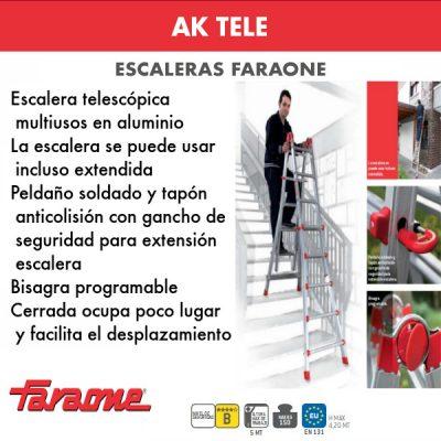 Escaleras de aluminio Faraone AK TELE
