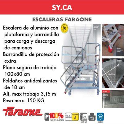Escalera de aluminio Faraone SY-CA