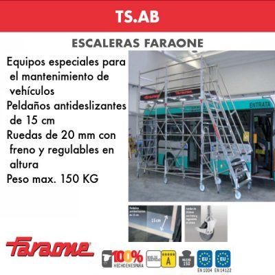 Escaleras de aluminio Faraone TS-AB