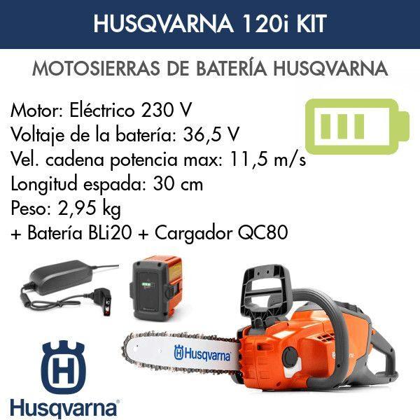 Motosierra Husqvarna 120i Kit