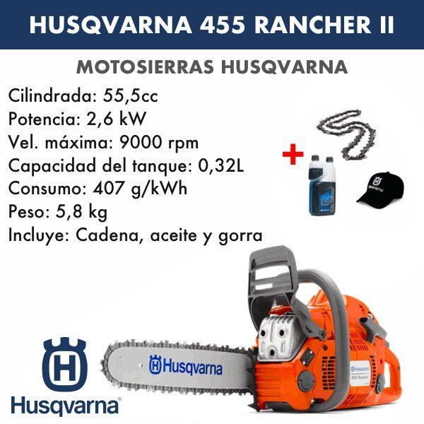 Motosierra Husqvarna 455 Rancher II