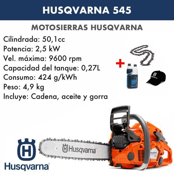 Motosierra Husqvarna 545