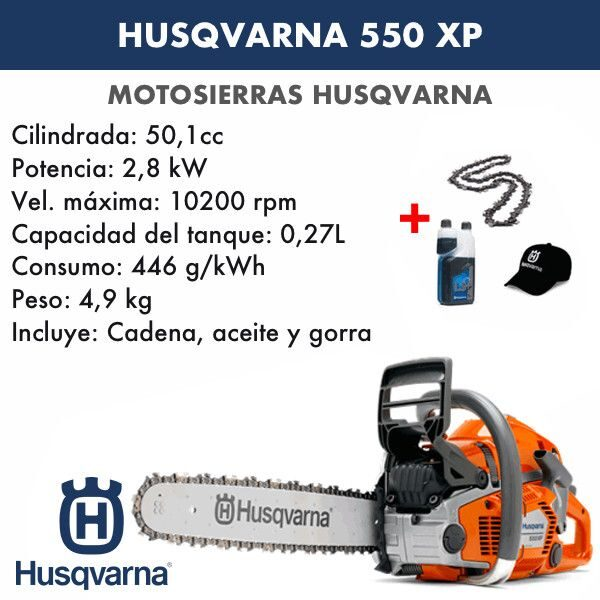 Motosierra Husqvarna 550 XP